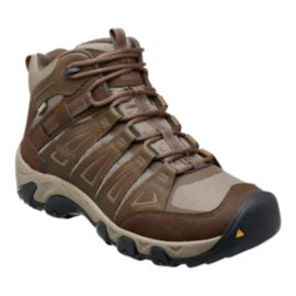 Keen Men's Oakridge Mid Waterproof Lite-Hiking Boots - Brown/Light Tan