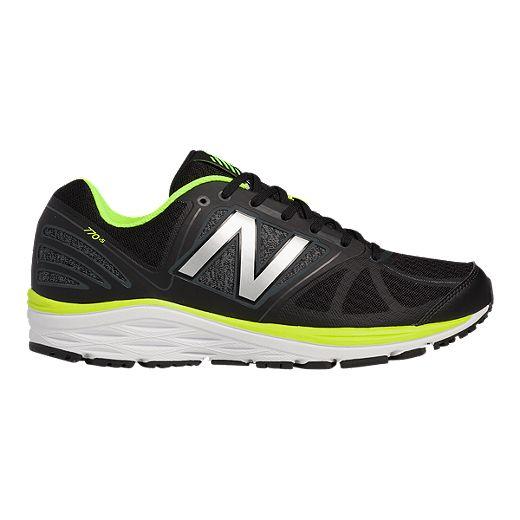 New Balance Men's 770v5 D Width Running Shoes - Black/Lime Green