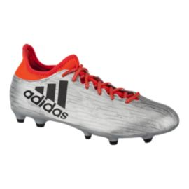 adidas Men's X 16.3 FG Outdoor Soccer Cleats - Silver/Orange