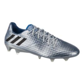 adidas Men's Messi 16.1 FG Outdoor Soccer Cleats - Silver/Blue/Black