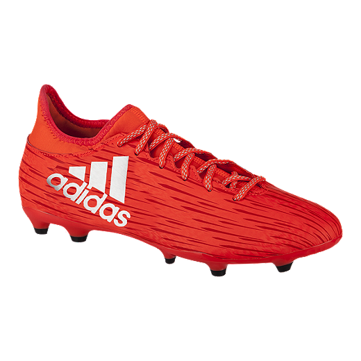 finest selection f8fb6 bde08 adidas Men's X 16.3 FG Outdoor Soccer Cleats - Red/White ...