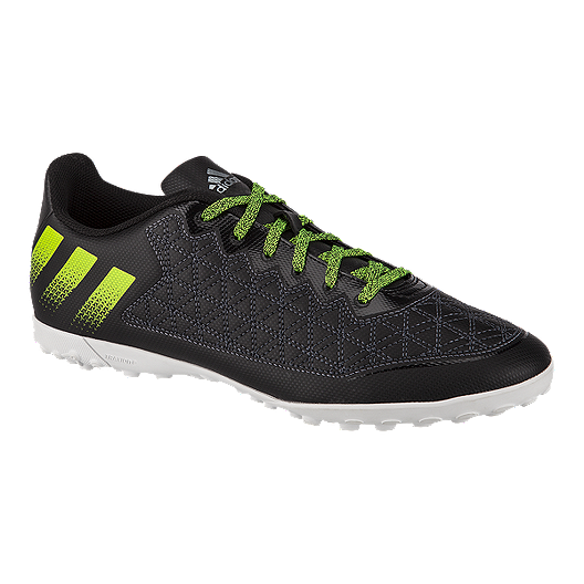 09878115 adidas Men's Ace 16.3 Cage Turf Indoor Soccer Shoes - Black/Green/White |  Sport Chek