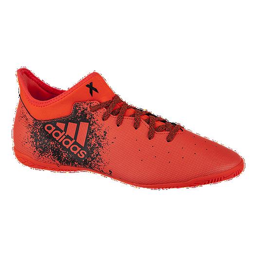 adidas Men's X 16.3 Indoor Soccer Shoes RedBlack | Sport Chek