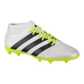 adidas Women's Ace 16.3 PrimeMesh FG Outdoor Soccer Cleats - White/Black/Yellow