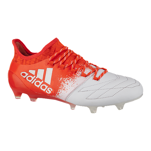 20b0665b760 adidas Women s X 16.1 Leather FG Outdoor Soccer Cleats - Red White ...