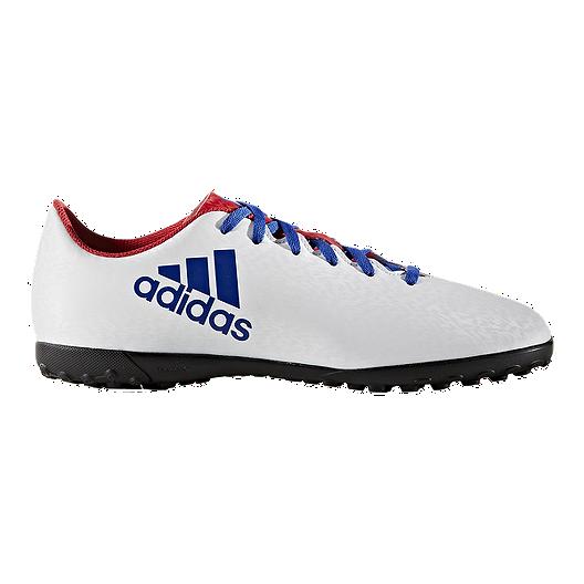 836f0bf86b2 adidas Women s X 16.4 Turf Indoor Soccer Shoes - Blue White Black ...