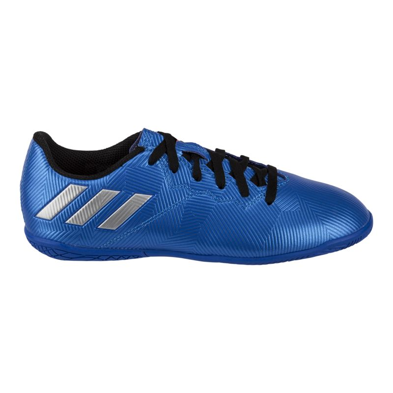 adidas kids messi 164 in indoor soccer shoes blue
