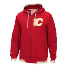 Calgary Flames CCM Fashion Fleece Full-Zip Hoodie