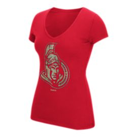 Ottawa Senators Oil Foiled Logo Women's Tee