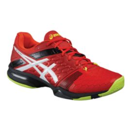 ASICS Men's Gel Blast 7 Indoor Court Shoes - Red/White/Lime Green