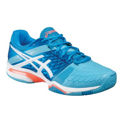 ASICS COURT SLIDE - Handball shoes - white/race blue