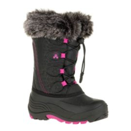Kamik Girls' SnowGypsy Winter Boots - Black/Pink