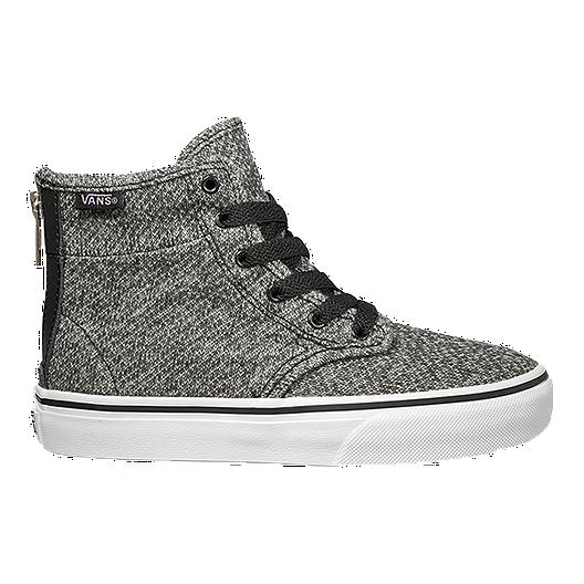 dc5f677fd9 Vans Girls  Camden HI Skate Shoes - Tweed Black