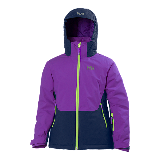 9c6898a9f9a Helly Hansen Girls' Stella Insulated Winter Jacket - 107 SUNBURNED PURPLE