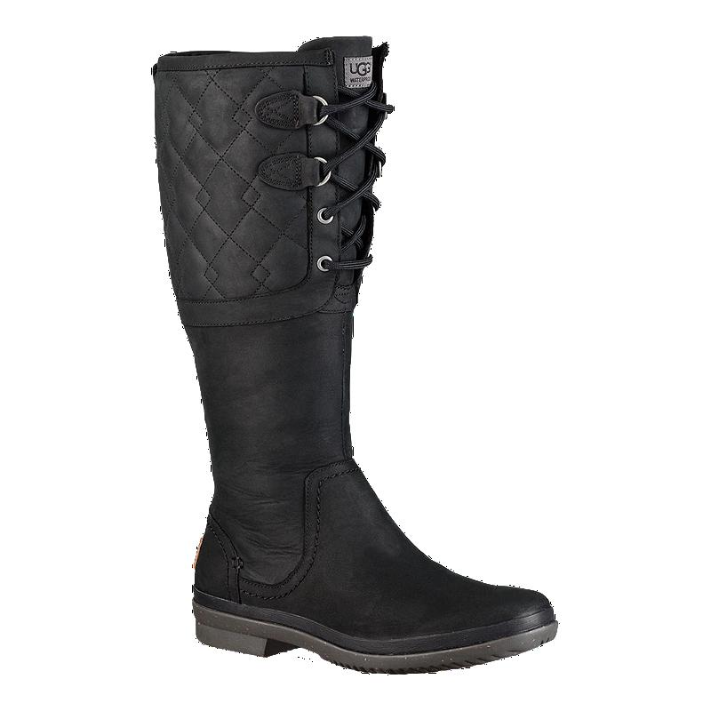 Ugg Women S Elsa Deco Quilt Winter Boots Black Sport Chek