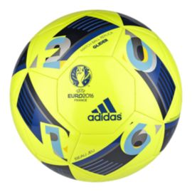 adidas Euro 16 Glider Soccer Ball Size 5 - Solar Yellow/Night In