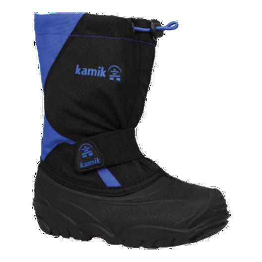 158aa9003428 Kamik Kids  SnowCub Winter Boots - Black Blue