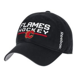 Calgary Flames Locker Room Adjustable Slouch Cap