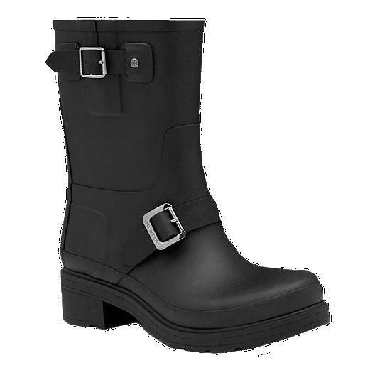 cf97d60a1059 Hunter Women s Original Rubber Biker Rain Boots - Black