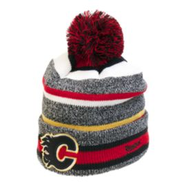 Calgary Flames CCM Fleece Pom Knit Beanie