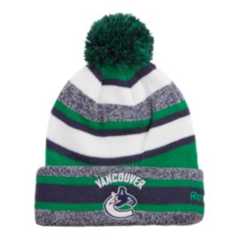 Vancouver Canucks CCM Fleece Pom Knit Beanie