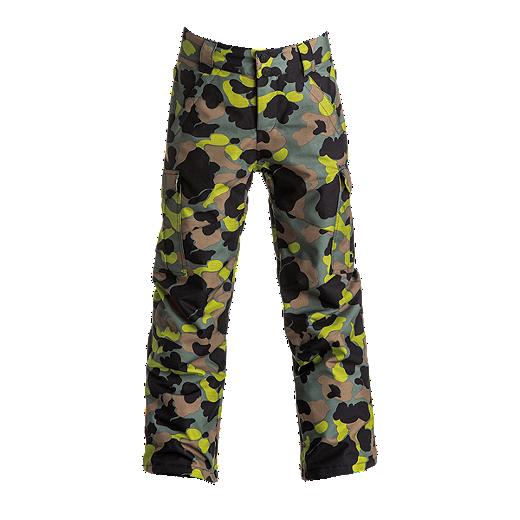 5ef4e19f DC Boys' Banshee Insulated Snow Pants - GHA7 CAMOUFLAGE LODGE