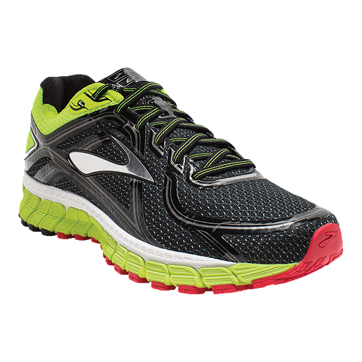 ff8af65792569 Brooks Men s Adrenaline GTS 16 2E Wide Width Running Shoes - Black Green Red