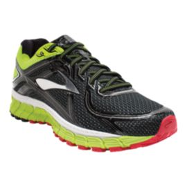 Brooks Men's Adrenaline GTS 16 2E Wide Width Running Shoes - Black/Green/Red