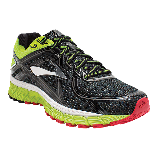 7692566fb90 Brooks Men s Adrenaline GTS 16 Running Shoes - Black Green Red ...