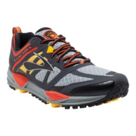 Brooks Men's Cascadia 11 Trail Running Shoes - Grey/Orange/Black