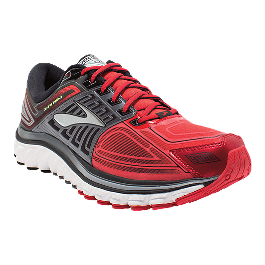 ef17a6e5a46c6 Brooks Men s Glycerin 13 Running Shoes - Grey Red