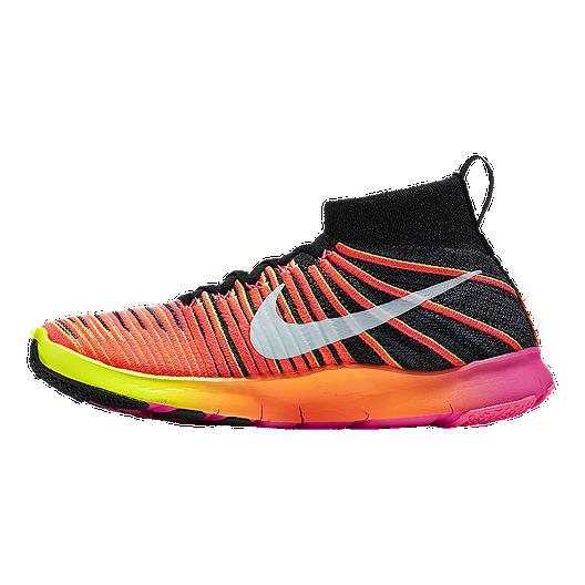 6f2c34612ed4 Nike Men s Free Force FlyKnit Unlimited Training Shoes - Orange Pink Black.  (0). View Description