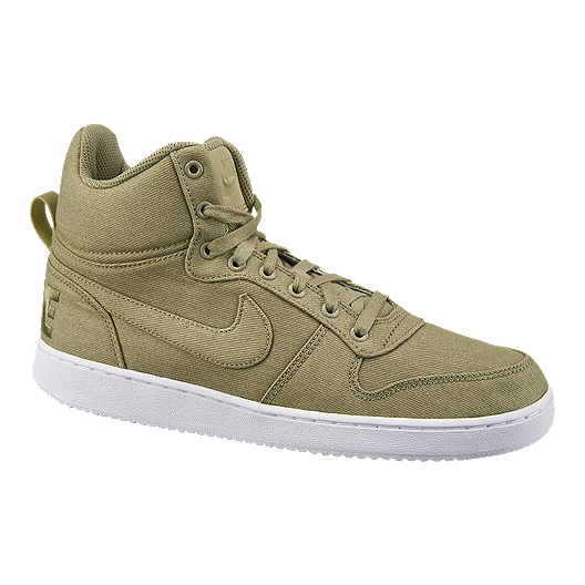 f094c8082 Nike Men s Court Borough Mid Premium Shoes - Olive