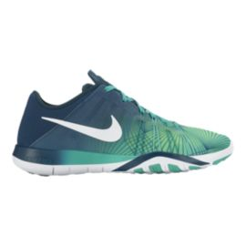 Nike Women's Free TR 6 Print Training Shoes - Jade/Navy Fade
