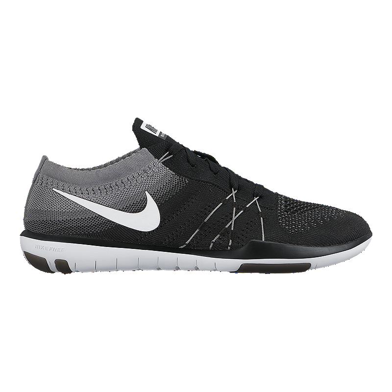 3e0c34df6682 Nike Women s Free TR Focus FlyKnit Training Shoes - Black White Grey ...
