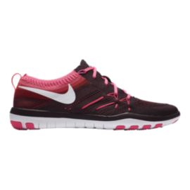 Nike Women's Free TR Focus FlyKnit Training Shoes - Black/Pink