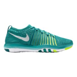 Nike Women's Free Transform FlyKnit Training Shoes - Jade/Volt Green