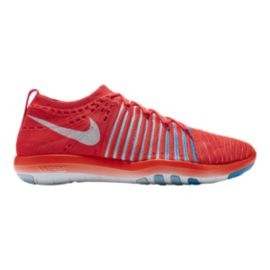 Nike Women's Free Transform FlyKnit Training Shoes - Red/White/Blue