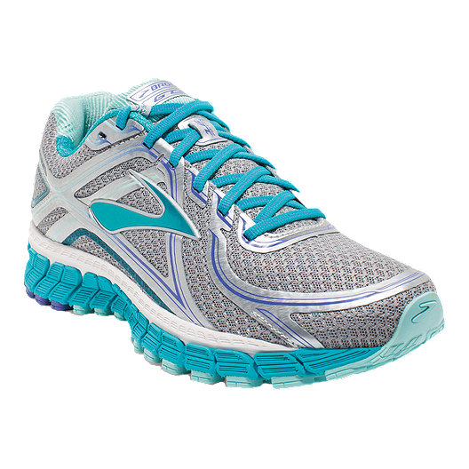 267d3521a42 Brooks Women s Adrenaline GTS 16 1B Running Shoes - Silver Grey Blue ...