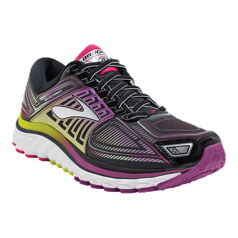 40e2626a4a990 Brooks Women s Glycerin 13 2A Narrow Width Running Shoes - Black Purple  Yellow