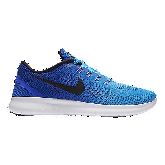 254abf8290338 Nike Men s Free RN 2016 Running Shoes - Blue Black White