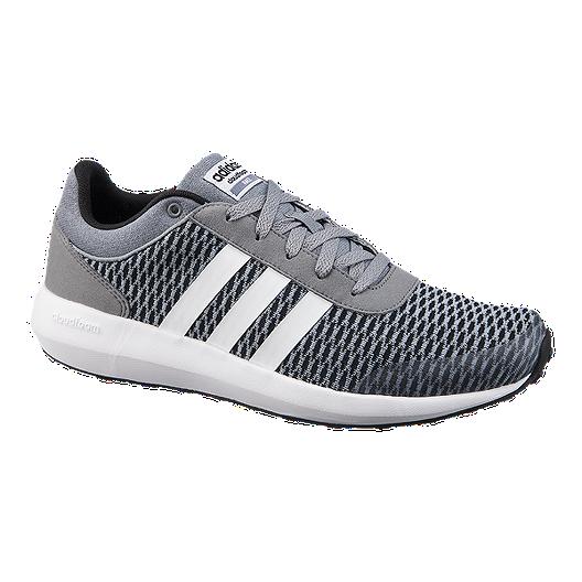 9ac23a5aa6d adidas Men s CloudFoam Race Shoes - Grey White