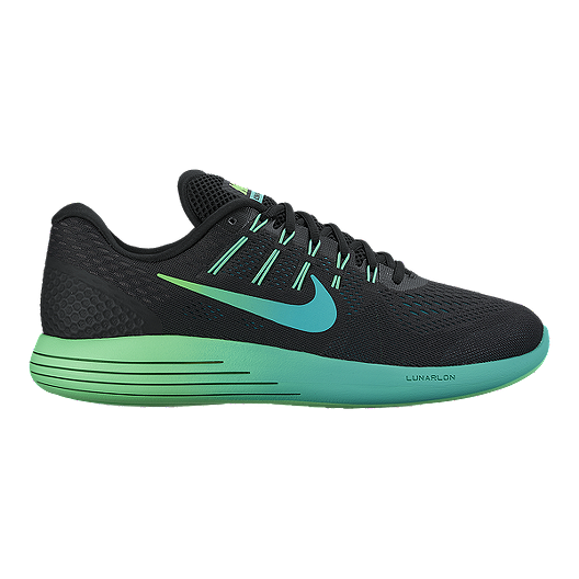 9042e2c21cf Nike Men s LunarGlide 8 Running Shoes - Black Mint Jade Green ...