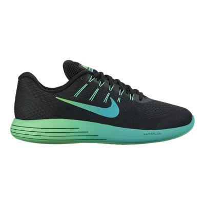 Nike Men's LunarGlide 8 Running Shoes - Black/Mint Jade Green