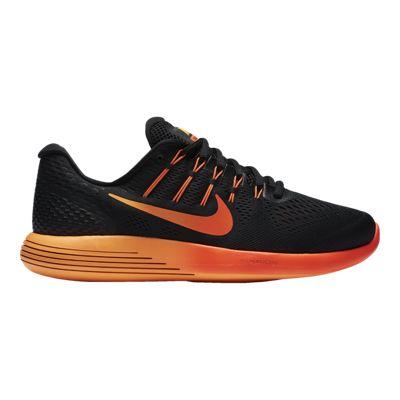 Nike Men's LunarGlide 8 Running Shoes - Black/Orange