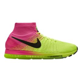 25576f9aa46b Nike Men s Zoom All Out FlyKnit Unlimited Running Shoes - Yellow Pink