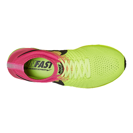 save off 5b571 861a6 Nike Men s Zoom All Out FlyKnit Unlimited Running Shoes - Yellow Pink. (0).  View Description