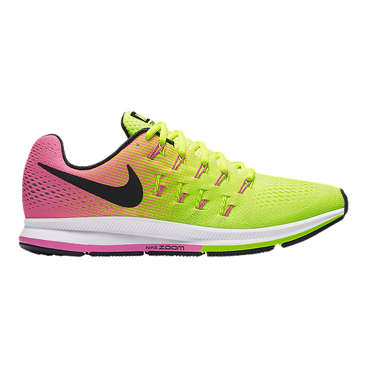 e7ae97ed2e3 Nike Men s Air Zoom Pegasus 33 Unlimited Running Shoes - Yellow Pink ...