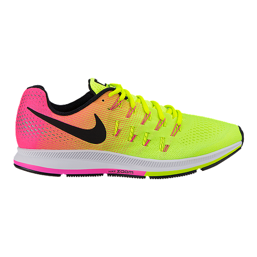 online store 5feea a0222 Nike Men s Air Zoom Pegasus 33 Unlimited Running Shoes - Yellow Pink