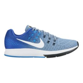 Nike Men's Air Zoom Structure 19 Running Shoes - Blue/White